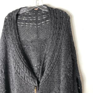 Free People | Wool Blend Sweater Poncho/Cape